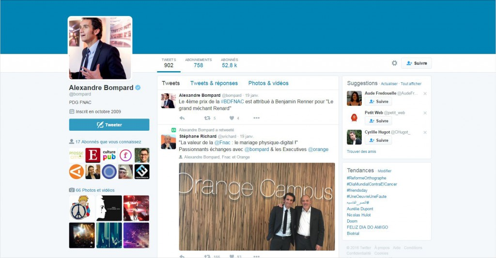 Twitter Alexandre Bompard