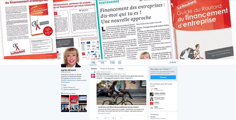 Twitter Agnès Bricard